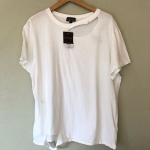 NWT Topshop Distressed Trashed Top Women's 10